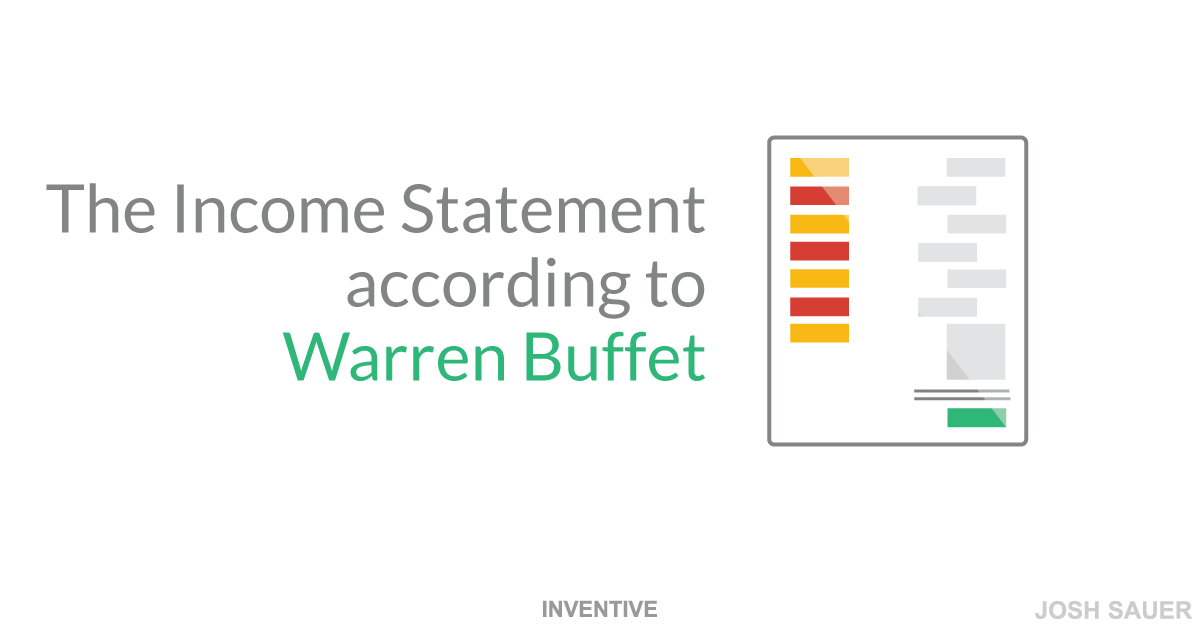 The income statement according to Warren Buffet