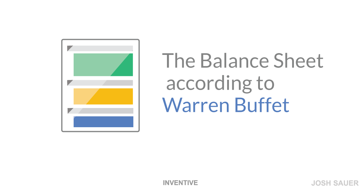 The balance sheet according to Warren Buffet